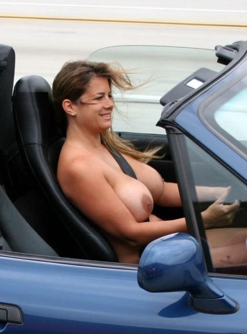 Attractively girl! bbw big tits car porn ride